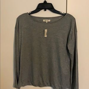 NWT Madewell grey cotton blouse